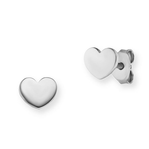 CAÏ Ohrstecker »925/- Sterling Silber rhodiniert Herz«