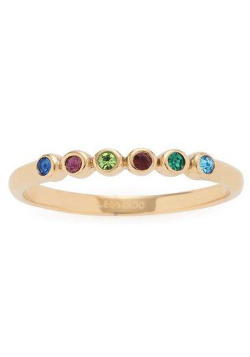 CIAO! BY LEONARDO Fingerring »Adea, 017067, 017068, 017069«, mit Kristallsteinen