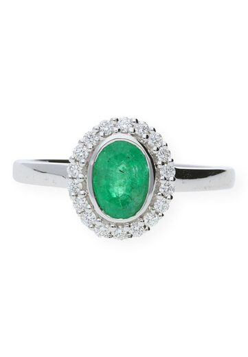 JuwelmaLux Diamantring »Ring Gold Damen und Herren« (1-tlg), Weißgold 585/000, inkl. Schmuckschachtel