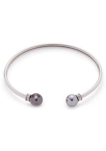 LEONARDO Armspange »Micca, 016959«, mit Zirkonia und imit. Perlen