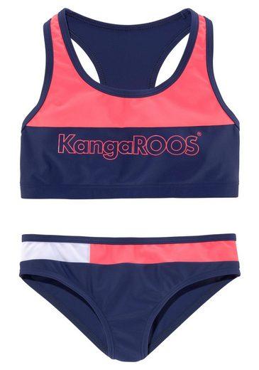 KangaROOS Bustier-Bikini (1 St) im Colourblocking-Design