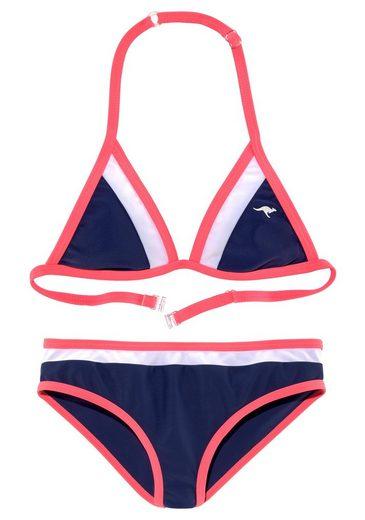 KangaROOS Triangel-Bikini im coolen Colorblocking-Design