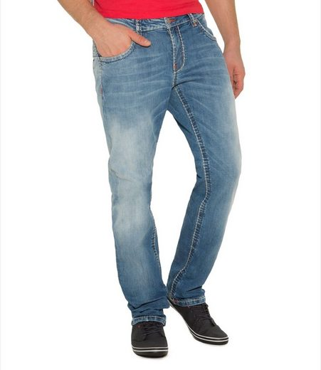 CAMP DAVID Comfort-fit-Jeans »CO:NO« mit Kontrast-Steppungen