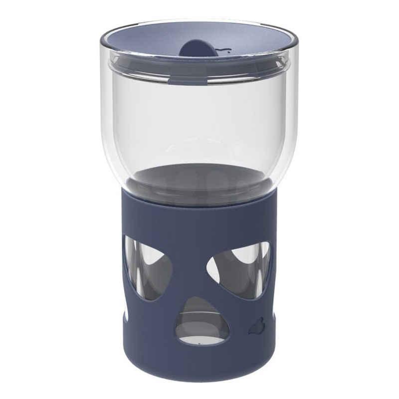 LEONARDO Coffee-to-go-Becher »IN GIRO Blau 350 ml«, Glas