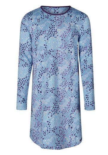 Skiny Skiny Damen Nachthemd Cosy Night Sleep in lässigem Leo-Print