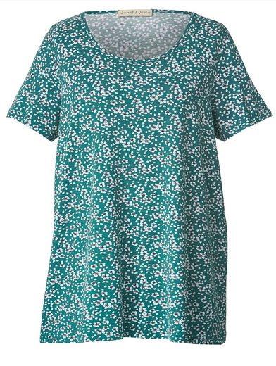 Janet und Joyce by Happy Размер Shirt mit Blumen-Print