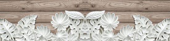 Bordüre »ALABASTER BLUMEN«, grafisch, 250 x 60 cm