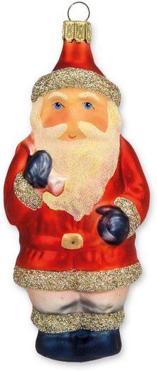 Thüringer Glasdesign Christbaumschmuck »Weihnachtsmann mit Sack« (1-tlg), mundgeblasen