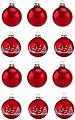 Thüringer Glasdesign Weihnachtsbaumkugel »Rot« (12 Stück), Made in Germany, Bild 1