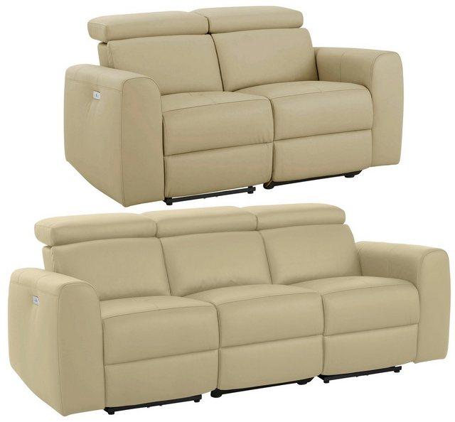 Sofas - Home affaire Polstergarnitur »Sentrano«, (Set, 2 tlg), bestehend aus dem 2 und 3 Sitzer, wählbar zwischen einer manuellen oder motorischer Relaxfunktion  - Onlineshop OTTO