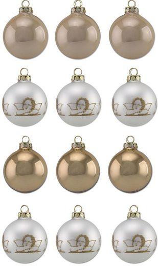 Thüringer Glasdesign Weihnachtsbaumkugel »Diamonds« (12 Stück), Made in Germany