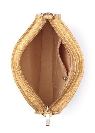 LASCANA Umhängetasche  Kleine Strandtasche  Minibag in modischer Bastoptik und runder Form