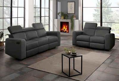 Home affaire Polstergarnitur »Sentrano«, (Set, 2-tlg), bestehend aus dem 2- und 3 Sitzer, wählbar zwischen manueller oder elektrischer Relaxfunktion