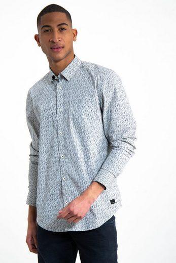 Garcia Hemd mit minimalistischem Allover-Print