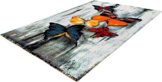Teppich »Mara Rainbow 800«, calo-deluxe, rechteckig, Höhe 15 mm, Kurzflor
