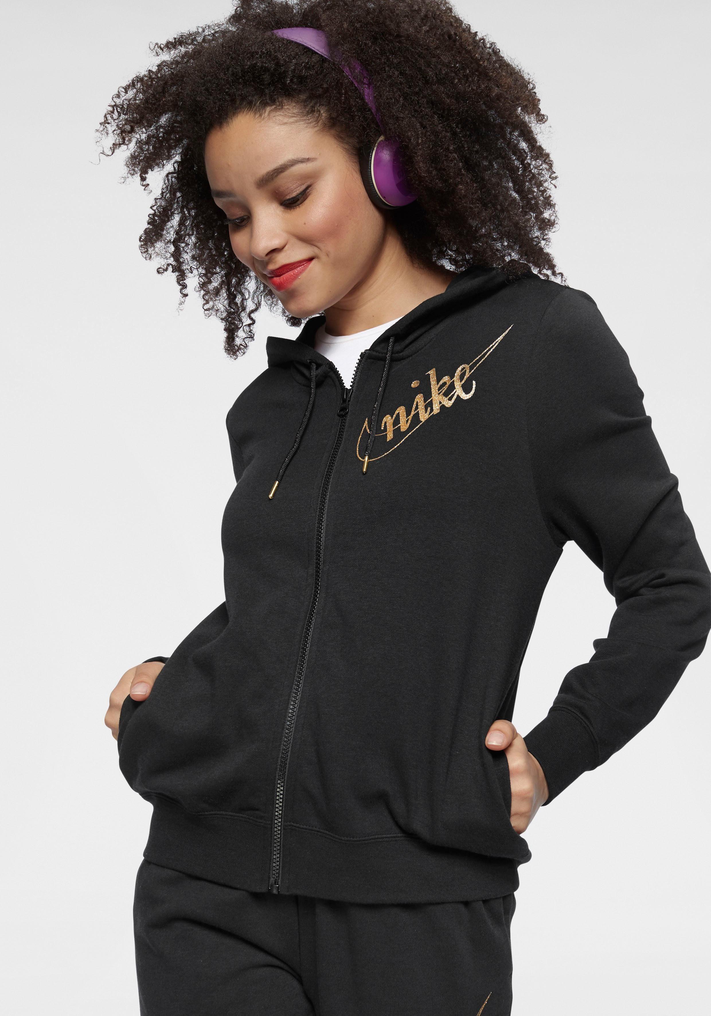 Nike Dry Hoodie Full Zip Shimmer Kapuzenjacke Damen