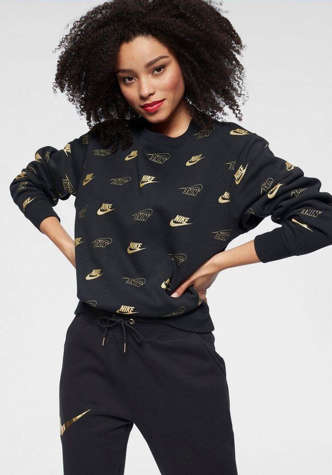 Damen Nike Sportswear Sweatshirt »W Nsw Crew Bb Bff Shine« schwarz | 00193152057562