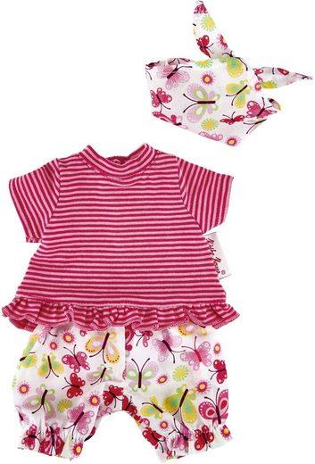 Käthe Kruse Puppenkleidung »T-Shirt mit Schmetterling Shorts« (3-tlg)