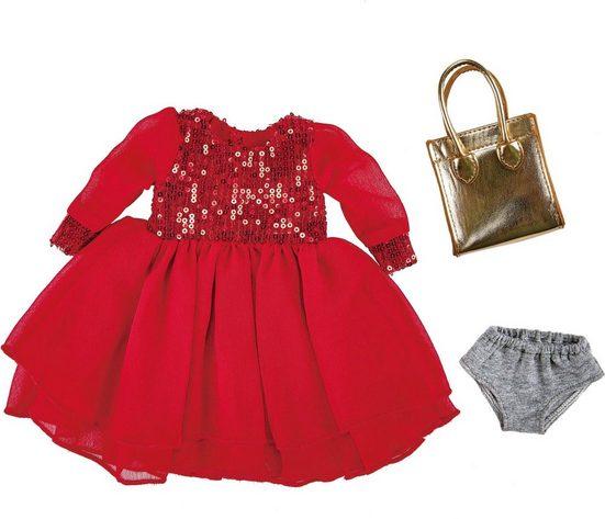 Käthe Kruse Puppenkleidung »Paillettenkleid rot mit Tasche« (2-tlg)