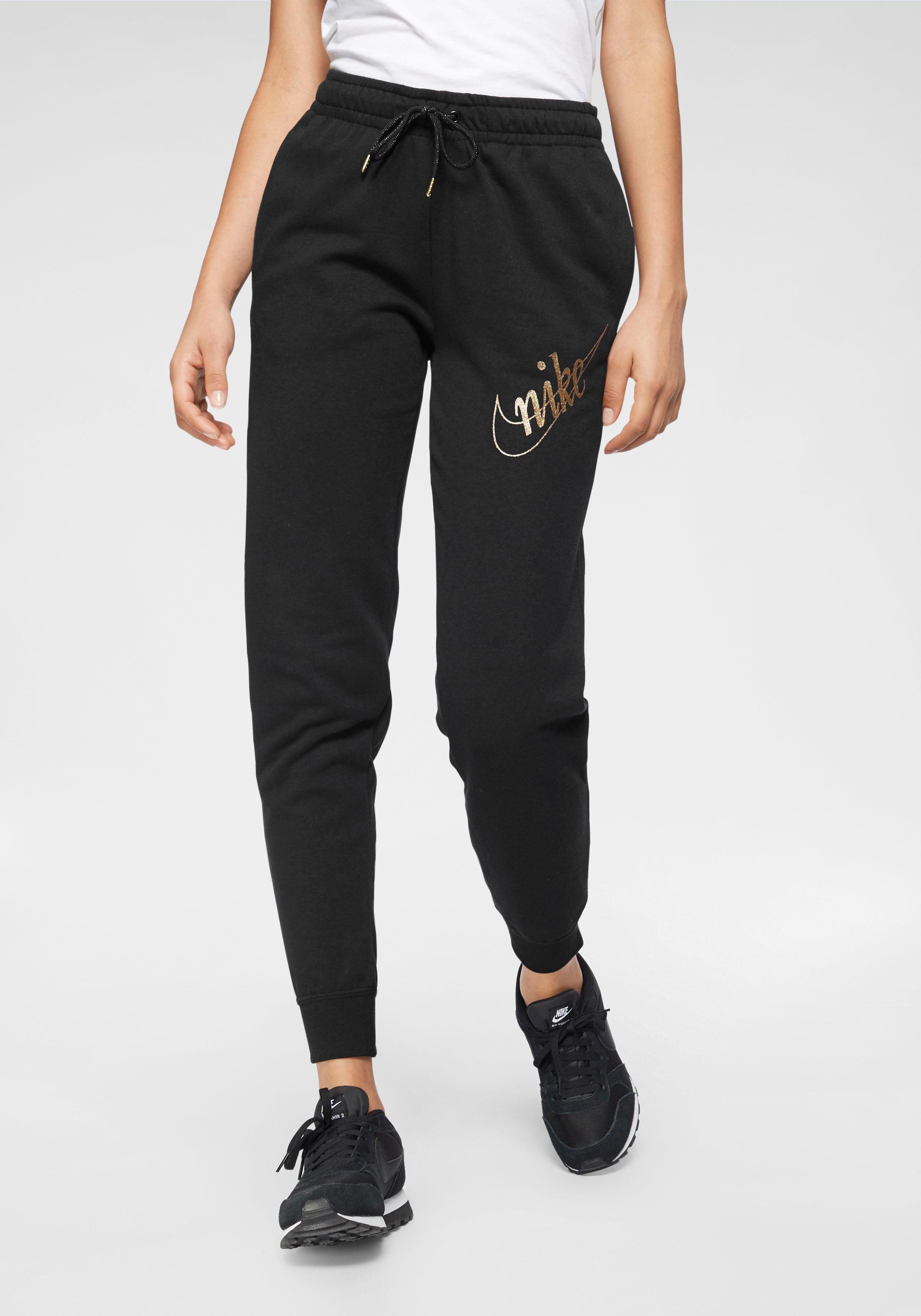 Nike Sportswear Jogginghose »W Nsw Pant Flc Glitter« Goldfarbener Glitzerdruck online kaufen | OTTO