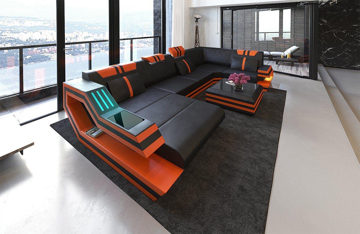 Sofa Dreams Wohnlandschaft »Ravenna«, U Form | Wohnzimmer > Sofas & Couches > Wohnlandschaften | Schwarz | Sofa Dreams