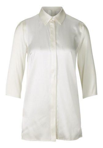 STYLE блуза из блестящий шелк из шелк ...