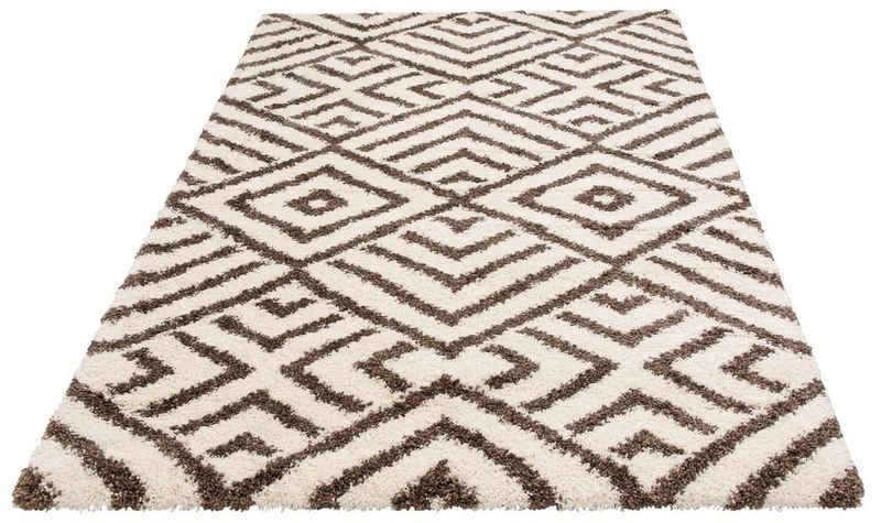 Hochflor-Teppich »Banel«, Bruno Banani, rechteckig, Höhe 40 mm, modernes Design, Wohnzimmer