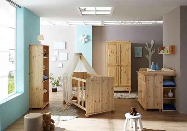 Babyzimmer - Ticaa Babyzimmer Komplettset »Adam«, Bett Wickelkommode Schrank Unterstellregal Standregal  - Onlineshop OTTO
