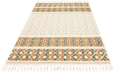 Teppich »Arian«, Home affaire, rechteckig, Höhe 18 mm, mit Fransen, Wohnzimmer