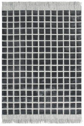 Teppich »Skylark«, Guido Maria Kretschmer Home&Living, rechteckig, Höhe 14 mm, 3D- Karo-Optik mit Fransen