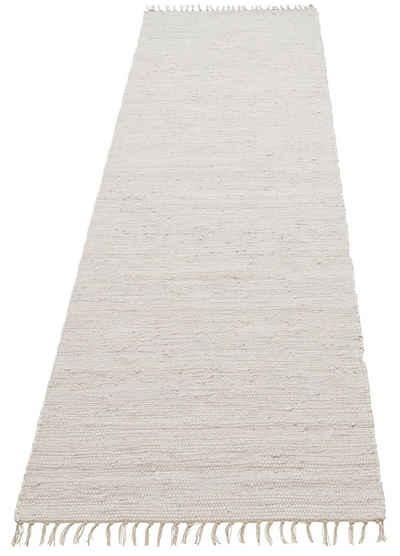 Läufer »Paul«, Lüttenhütt, rechteckig, Höhe 5 mm, handgewebt, beidseitig verwendbar, mit Fransen