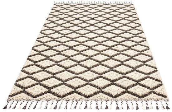 Teppich »Hagen«, Home affaire, rechteckig, Höhe 18 mm, mit Fransen