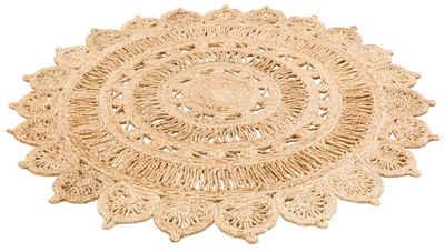 Teppich »Amar«, My HOME, rund, Höhe 7 mm, Naturprodukt aus Jute, Wohnzimmer
