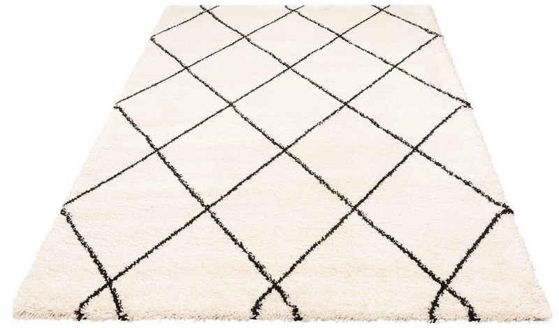 Hochflor-Teppich »Belle«, Leonique, rechteckig, Höhe 35 mm, Scandi Design, weiche Haptik, Wohnzimmer