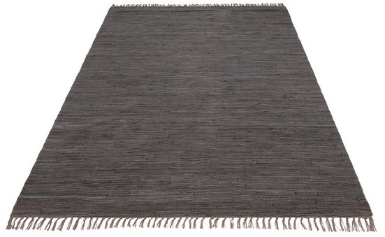 Teppich »Ares«, my home, rechteckig, Höhe 5 mm, handgewebt, mit Fransen, Wohnzimmer