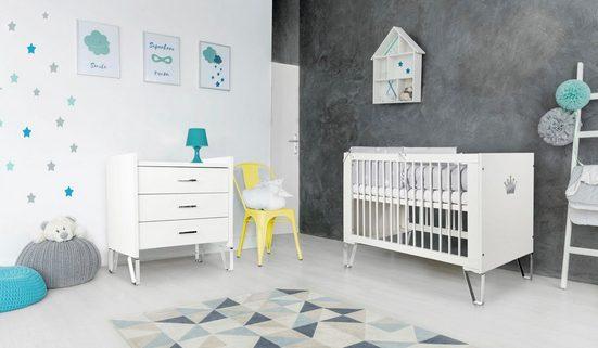 Ticaa Babymöbel-Set »Blanka«, Bett + Wickelkommode