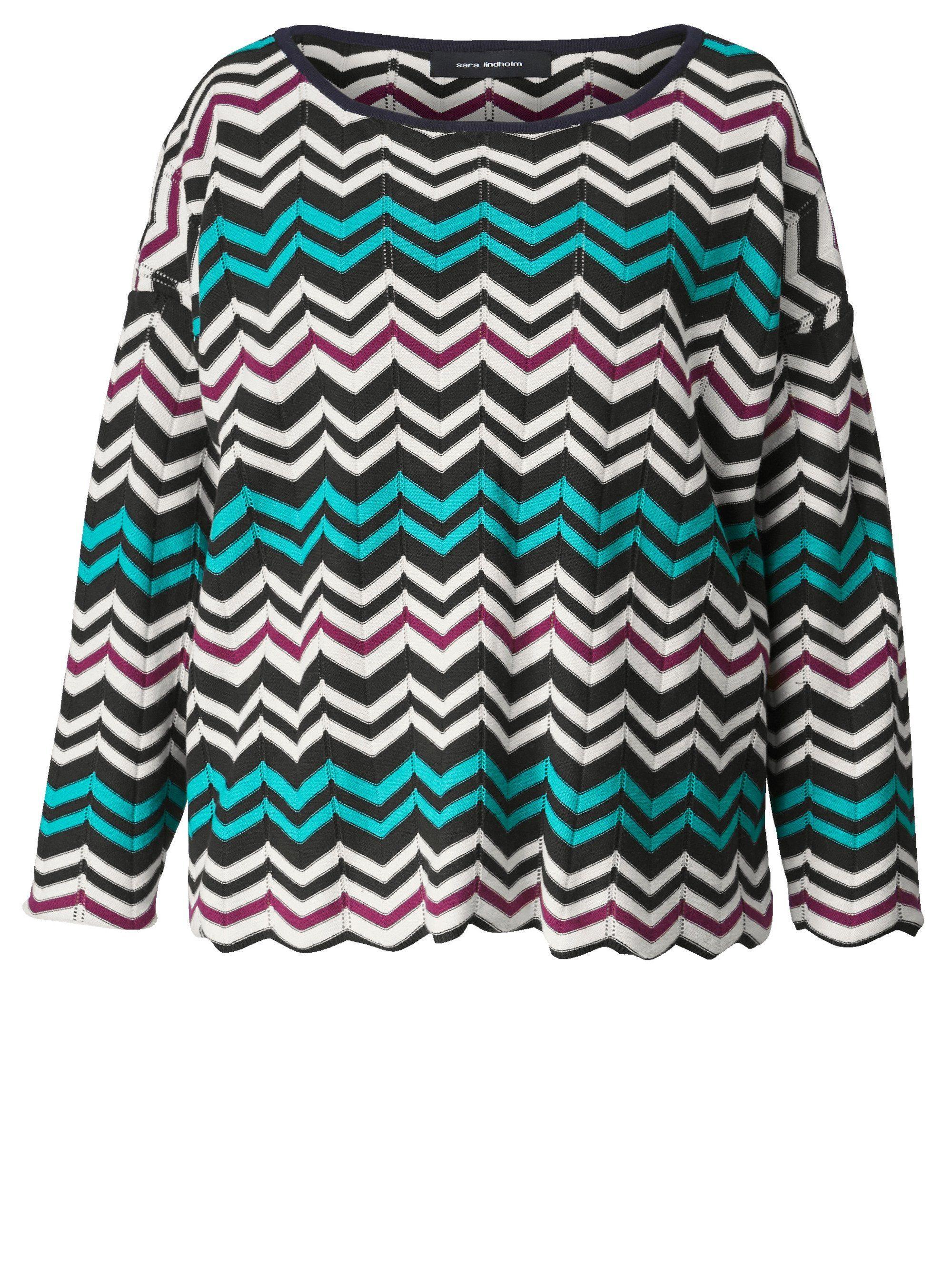 Sara Lindholm by Happy Size Pullover, Gerade Form mit U Boot Ausschnitt online kaufen | OTTO
