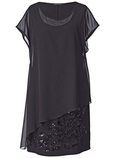 Sara Lindholm by Happy Size 2-in-1-Kleid mit Pailletten