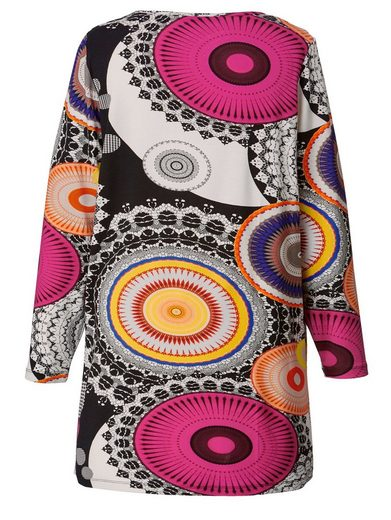 Sara Lindholm by Happy Size Jersey-Tunika mit Allover-Print
