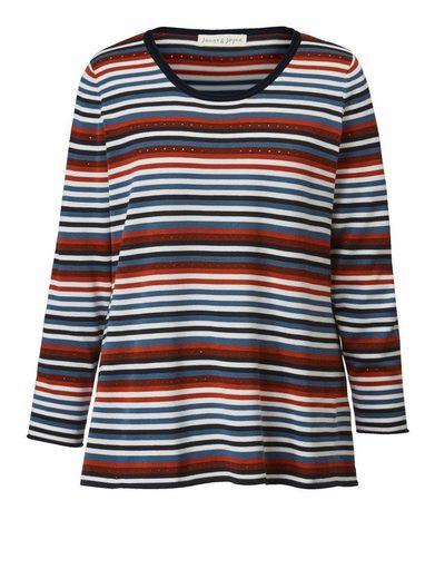 Janet und Joyce by Happy Size Pullover gestreift