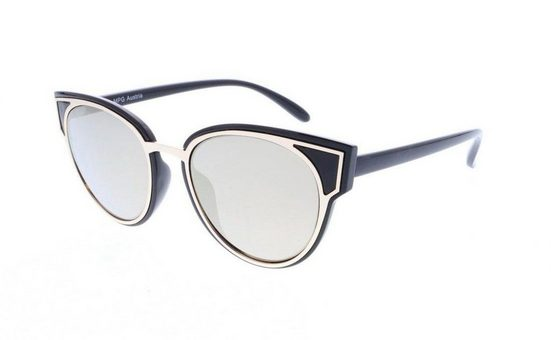 J.Jayz Sonnenbrille mit goldener Metalleinfassung