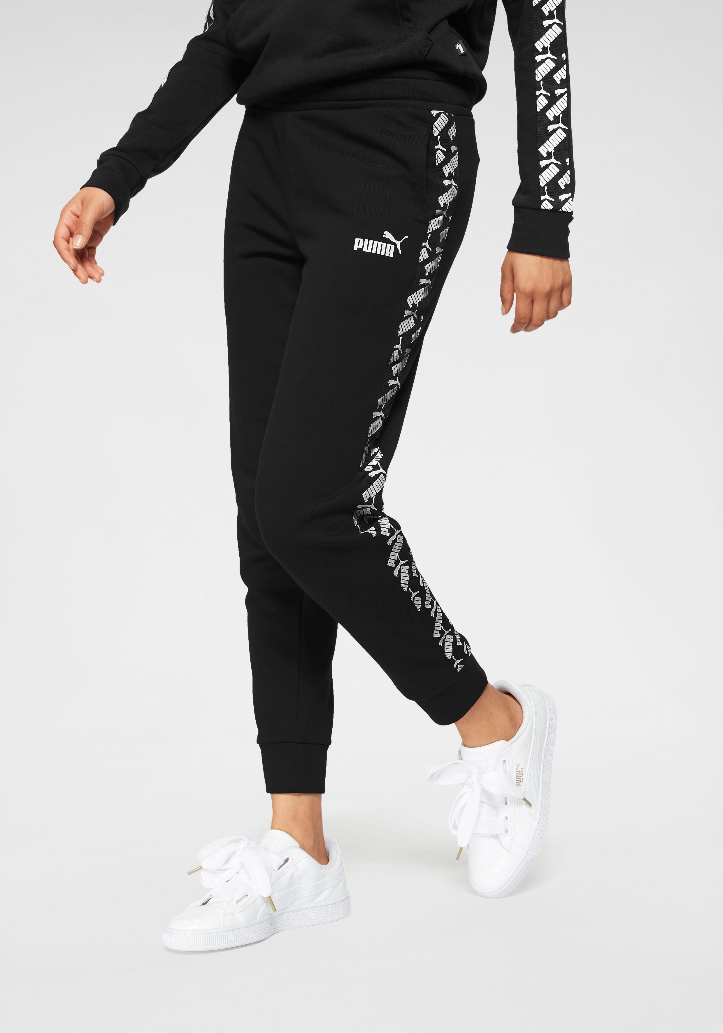 Puma Damen NU TILITY Jogginghose Sporthose Fleece Mit Bündchen Elastischer Bund