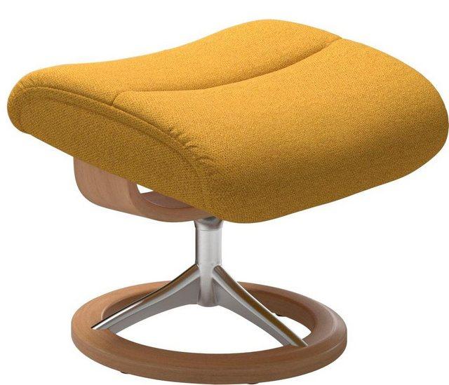 Stressless® Fußhocker »View«, mit Signature Base,Gestell Eiche   Wohnzimmer > Hocker & Poufs > Polsterhocker   Gelb   Stressless®