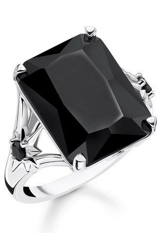 THOMAS SABO Žiedas »Stein juoda spalva didelė su Ž...