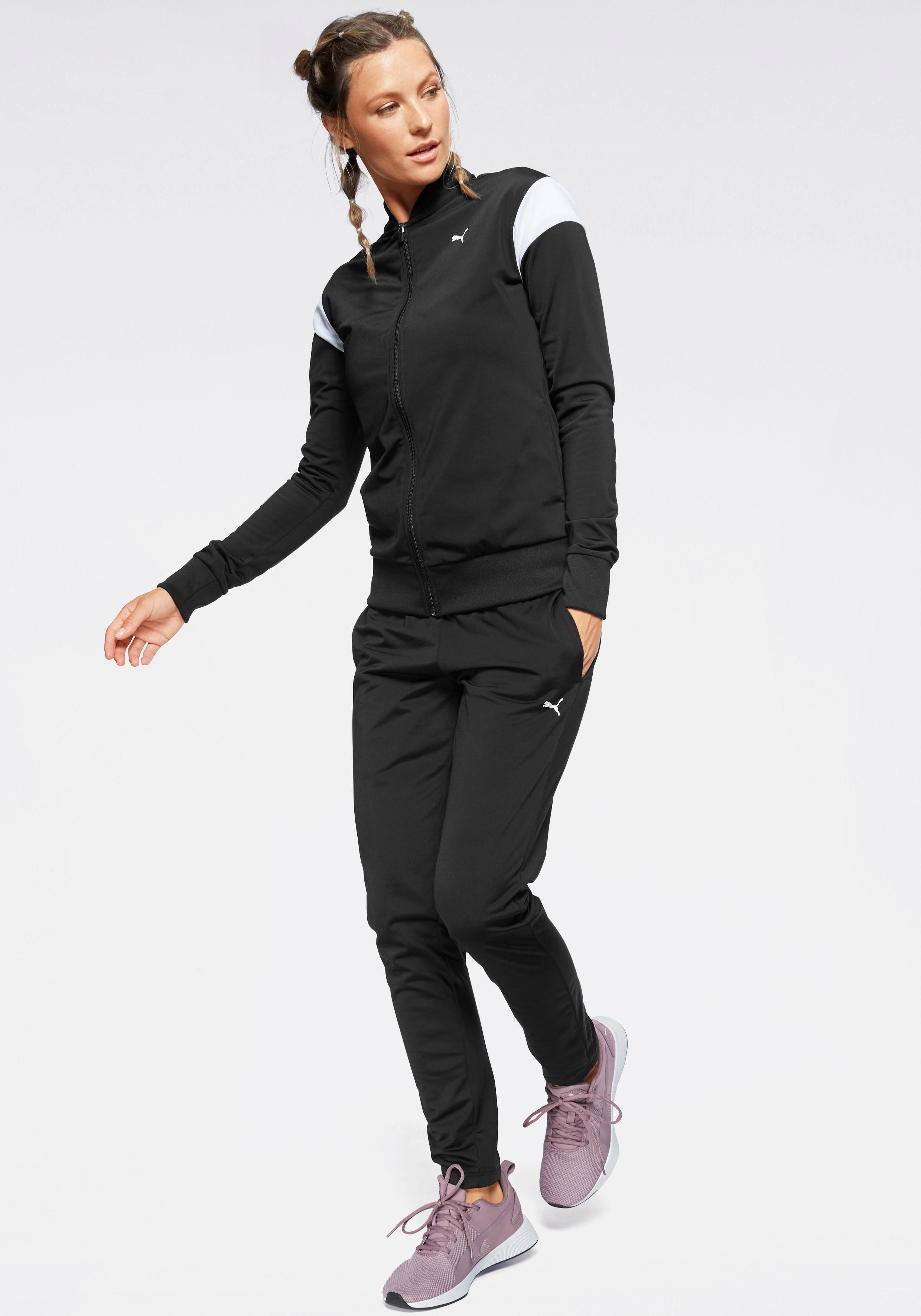 PUMA Trainingsanzug »Clean Tricot Suit Op« (Set, 2 tlg)