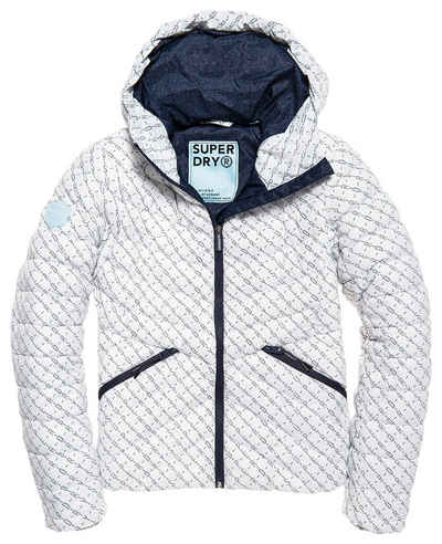 Superdry Steppjacke »HELIO FUJI HOODED JACKET« in modischer Melange Optik