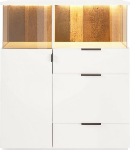 Quadrato Highboard »Modena«, Rückwand Altholz