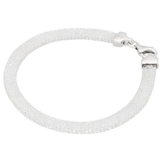 Smart Jewel Armband »in Schlauchform gefüllt mit Swarovski Kristallen, Silber 925«