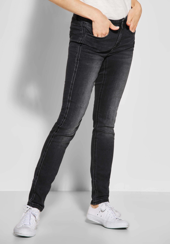 STREET ONE Slim fit Jeans mit Galonstreifen mit Wording online kaufen | OTTO