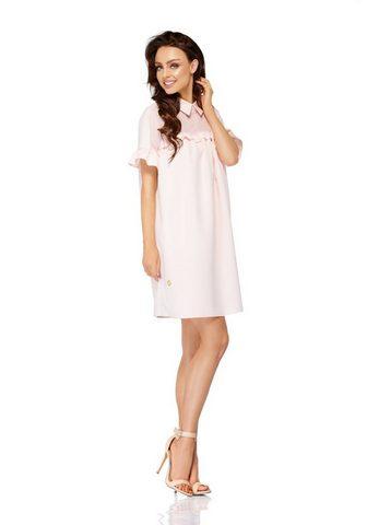 Платье с элегантный воротник